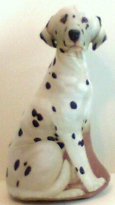 Patty Reed Dalmatian Dog Pillow stuffed toy print dog shaped throw bed collectible new