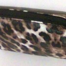 Soho cosmetic clutch 4x6 Leopard animal print bag new