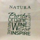 Natura Organic Wine Tote Bag canvas new