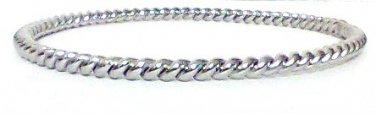Bangle twisted metal rhodium plate new