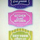 Kitchen refrigerator Magnets 3 count scotch-brite new