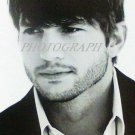 Ashton Kutcher photo signed 5 x7 celebrity Two Men Apple Jobs black white new