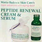 Mario Badescu's Peptide Renewal Serum and Cream set travel trial new