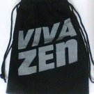"VivaZen Bag 8"" x 6"" drawstring velour velvet pouch new"
