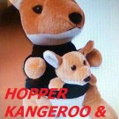 Hopper Kangaroo with Joey doll sealed stuffed animal dish tv toy collectible Smith new