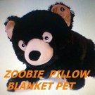 Zoobies Pet Bear blanket pillow Bubba plush toy 3 in 1 Zoobie new