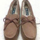 Foot Warmers by Laguna Leather Slippers size 9 tan men moccasins