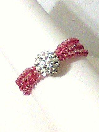 Bracelet stretch Crystal Glass white red new