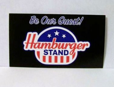 Hamburger Stand Gift Card 2 count new