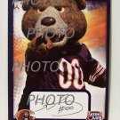 Chicago Bears Stanley da Bear mascot Card kis club new