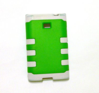 Dual Defense Cell Phone Case LG L38C green white