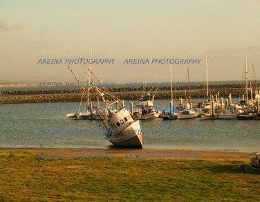 Fishing Boat Half Moon Bay photo print 8 x 10 new