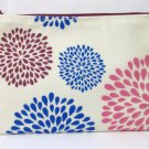 KC Bag cosmetic clutch 4.5 x 7 white blue pink new