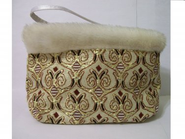 Sassy & Chic Bag clutch cosmetic purse evening embroidered tapestry