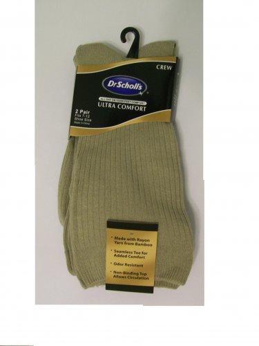 Dr. Scholl's Ultra Comfort Socks 2 pair crew men new