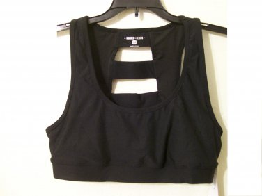 Inspired Hearts Bra size M black sport strappy bandage women jrs girls new
