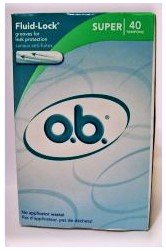 O.B. Tampons Fluid-lock Super 40 count new