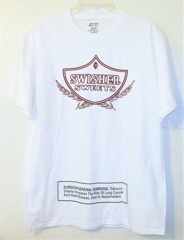 Swisher Sweets T-shirt size Large white men new