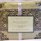 Regal Collections Luxury Linens Duvet Set size Queen /full tan brown new