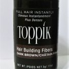 Toppik Hair Building Fibers 3 gram dark brown new