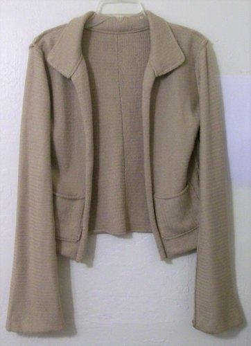 Cardigan Sweater size Medium Silk Tan women girls