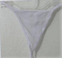 Thong Panty size Large mesh White women girls new