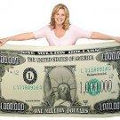 Million Dollar Bill design novelty blanket new