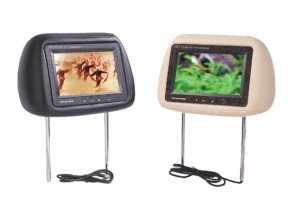 7inch Headrest TFT-LCD monitor with pillow 16:9 format (Pair of Two)