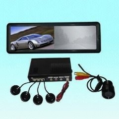 6inch rear-view mirror LCD monitor with radar system and camera