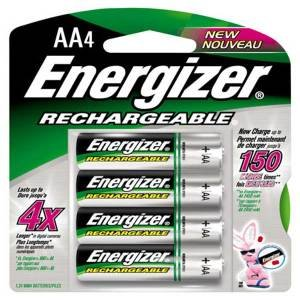 Energizer Rechargeable AA, 4 Pack