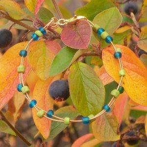 """D String Grass and Sky Bracelet"" 18"