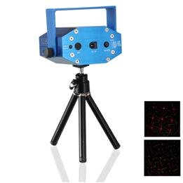 650nm/100mw & 532nm/50mw Voice-activated Mini Green & Red Laser Stage Lighting Projector Show Light