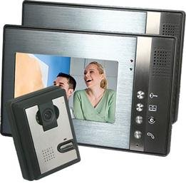"Outdoor Camera & 2x 7"" TFT LCD Photographing Monitors Home Security Video Door Phone Intercom"