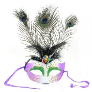 Peacock Feather Glitter Eye Mask Dress-up for Masquerade Party Ball Halloween free shipping