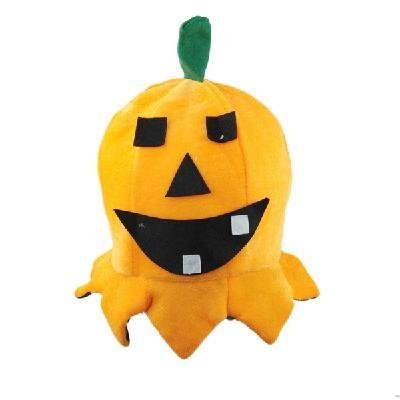 Orange Lovely Pumpkin Shaped Cap Sponge Hat Toy Decoration for Halloween  free shipping