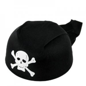 Full Skull Halloween Pirate Hat Cap w/Rear Fringes Masquerade Costume free shipping