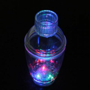 Light-up Multicolored Flashing LED Cocktail Shaker New  free shipping