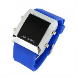 New Unisex Silicone Band LED Sports Wrist Watch Deep free shipping