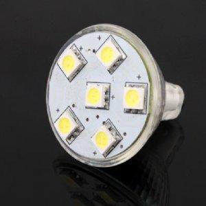 12V MR11 Spotlight Spot Light Bulb Lamp 6 SMD 5050 LED free shipping