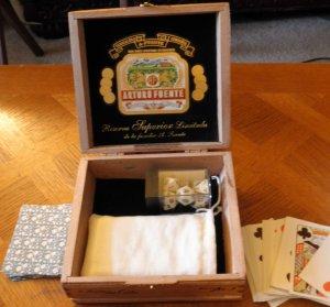 """Arturo Fuente Cigar Gaming box 6.5""""x6.25"""" x 2.25"""""""