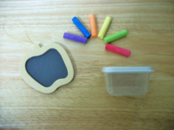 Apple Chalk Board set for American Girl 18 inch Dolls