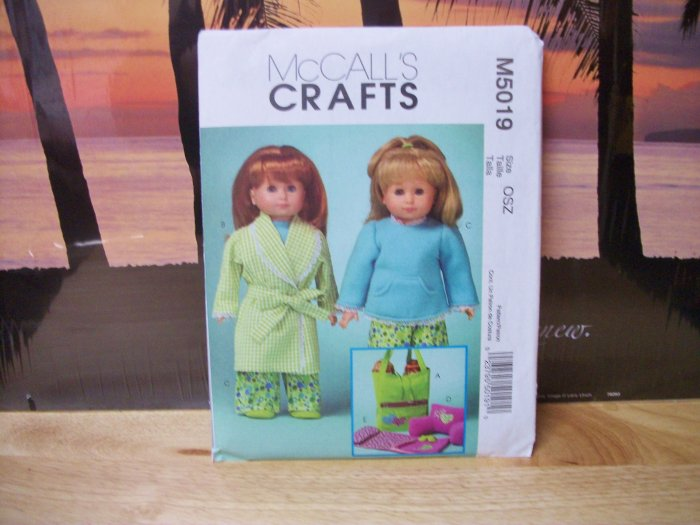 AMERICAN GIRL 18 INCH DOLL CLOTHES PATTERN-MCCALL'S #M5019