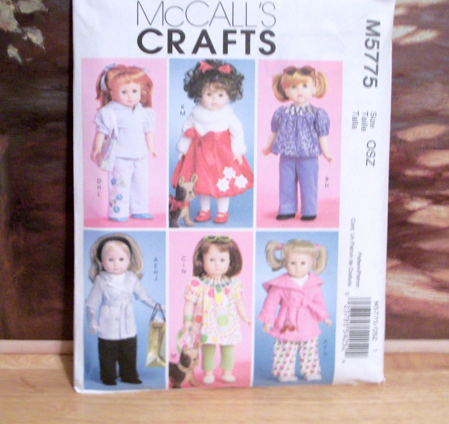 AMERICAN GIRL 18 INCH DOLL CLOTHES PATTERN-MCCALL'S #M5775