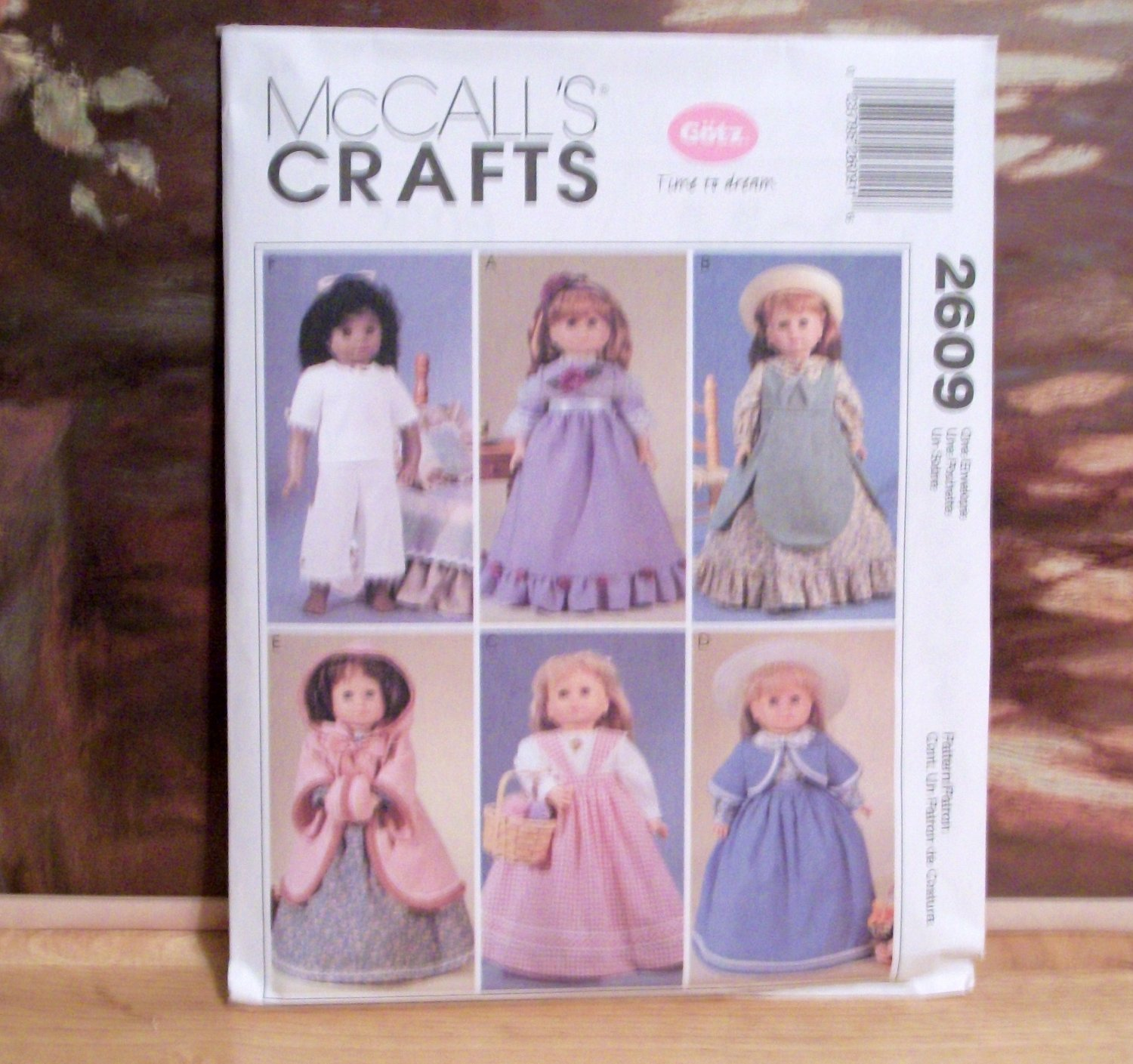 AMERICAN GIRL 18 INCH DOLL CLOTHES PATTERN-MCCALL'S #M2609