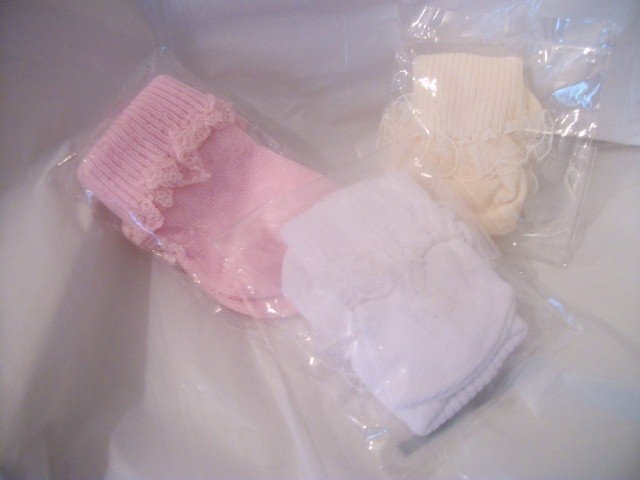 3 PAIR OF SOCKS FOR AMERICAN GIRL 18 INCH DOLLS