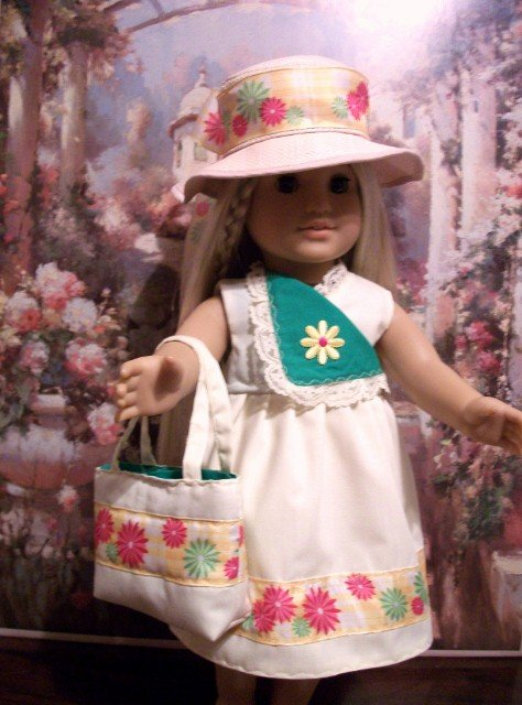 Yellow Summer Sundress set for American Girl 18 inch dolls