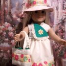 Yellow Summer Sundress set for American Girl 18 inch dolls