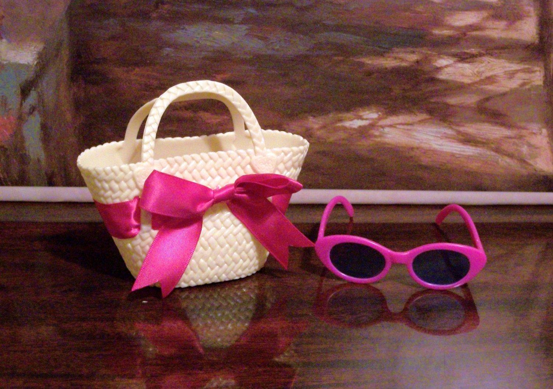Purple Beach set w/Purse & Sunglasses For American Girl Dolls