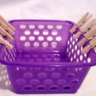 Lavender Laudry Basket for American Girl 18 inch Dolls