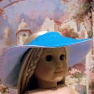 Blue Beach Hat & Purse Set for American Girl 18 inch dolls